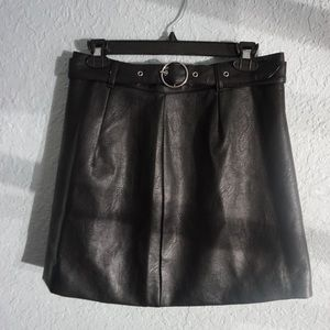 Brand new H&M fake leather black skirt